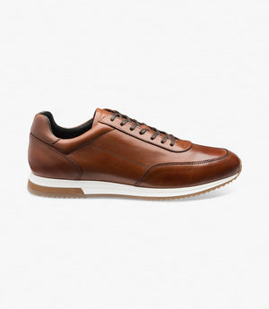 LOAKE Bannister - Leather Sneakers - Cedar-Side View