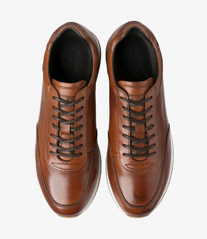 LOAKE Bannister - Leather Sneakers - Cedar-Top View