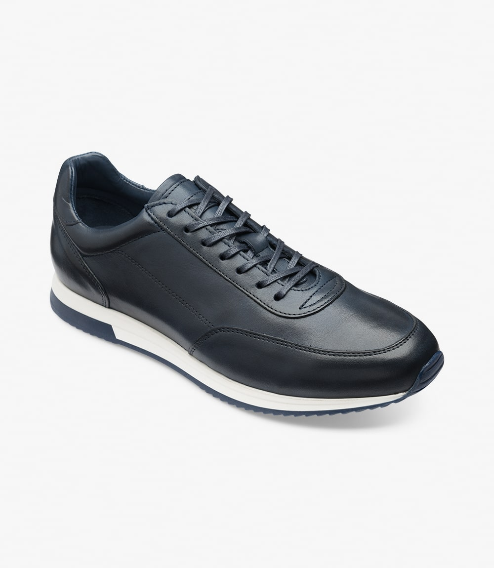 LOAKE  Bannister - Leather Sneakers - Navy
