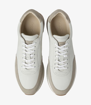 LOAKE  Bannister - Leather Sneakers -Stone Nubuck- Top View