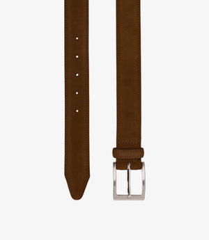 Loake William Leather Belt - Brown Suede