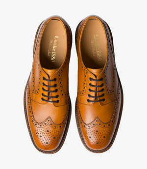 LOAKE Chester Oxford Brogue Shoe - Top View
