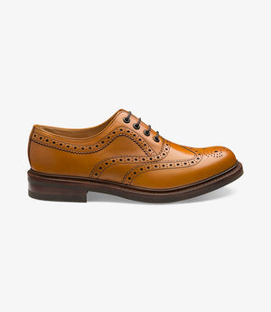 LOAKE Edward Brogue Shoe - Tan - Side View