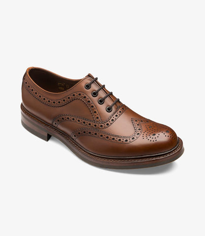 LOAKE Edward Premium Country Brogue Shoe- Dark Brown Calf leather