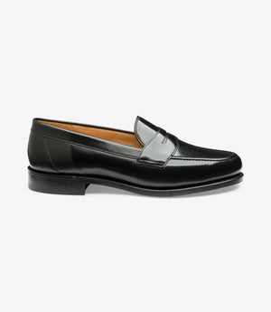 LOAKE Eton Black Classic Loafer - Side View