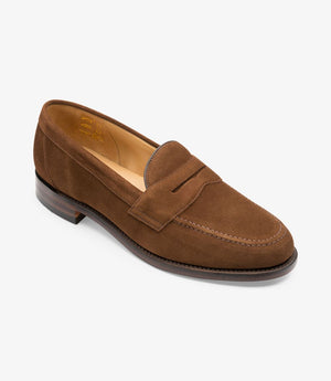 LOAKE Eton suede Classic Loafer - Brown - Angle View