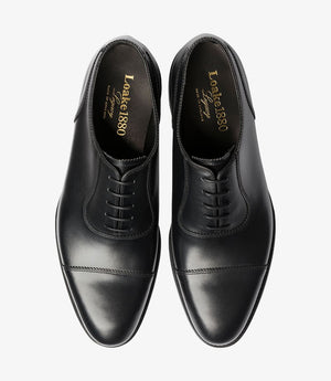 LOAKE - EVANS Premium toe cap Oxford shoe - Black