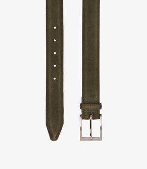 Loake William Leather Belt - Green Suede