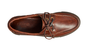 Barker Henri Moccasin Shoe -  Brown pull-off Calf
