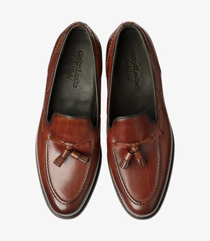 LOAKE  LOCKE hand-painted Loafer - Brush Painted Chestnut