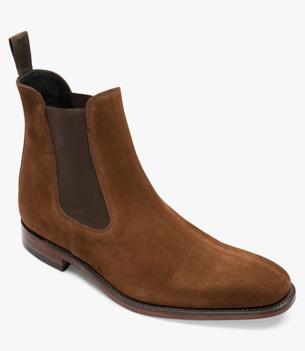 LOAKE  Mitchum Chelsea - Brown Suede - Angle View