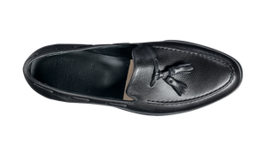 Barker Newborough  Leather Loafer Shoe- Black Grain