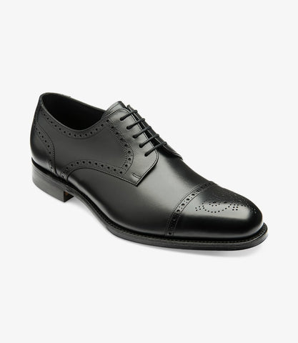 LOAKE Nuffield Black Calf Leather Shoe