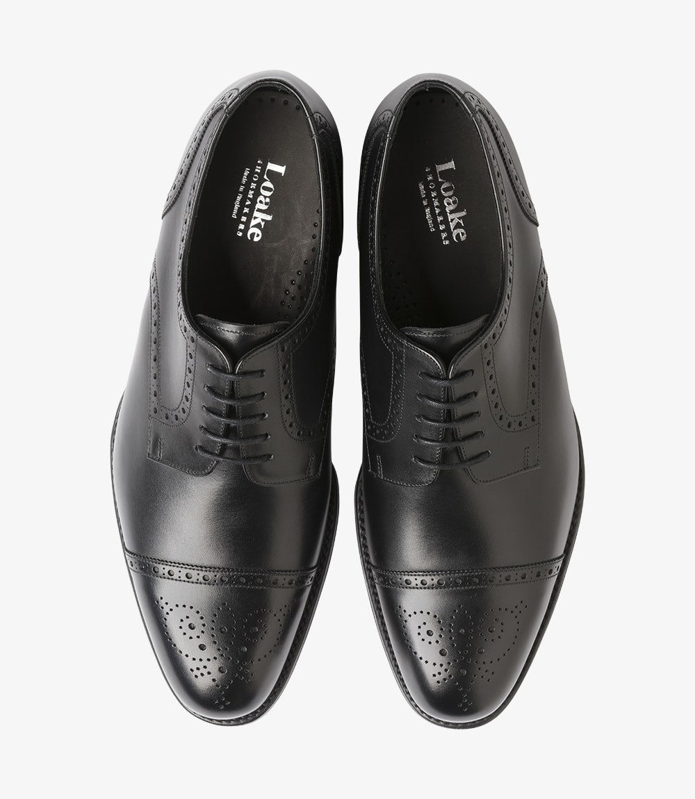 LOAKE Nuffield Black Calf Leather Shoe - Ninostyle