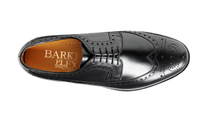 Barker Portrush Brogue Shoe -  Black Calf
