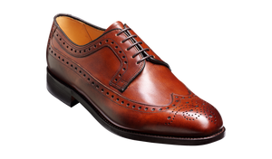 Barker Portrush Brogue Shoe -  Walnut Calf