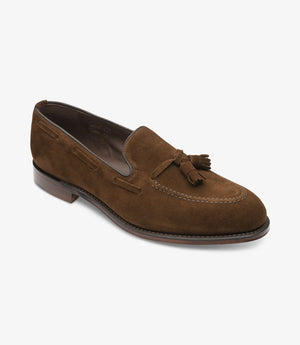 LOAKE - Russell Tasselled Loafers Suede Shoe - Polo - Angle View