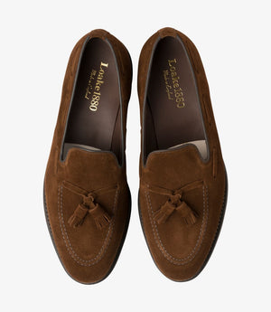 LOAKE - Russell Tasselled Loafers Suede Shoe - Polo - Top View