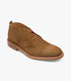 LOAKE SANDOWN BROWN SUEDE- BOOT - Angle View