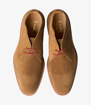 LOAKE SANDOWN BROWN SUEDE- BOOT - Top View