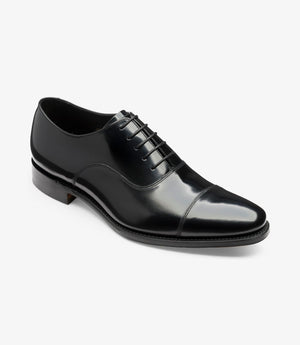 LOAKE  Smith Toecap oxford shoe - Black