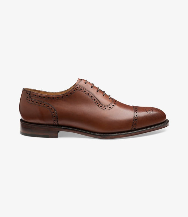 LOAKE Strand- Premium Semi Brogue shoes - MAHOGANY