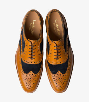 LOAKE Tarantula two-tone Oxford Brogue shoe - Tan - Ninostyle