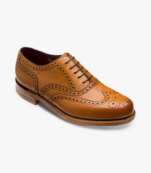 LOAKE VIV- TAN BURNISHED CALF LEATHER SHOES - Angle View