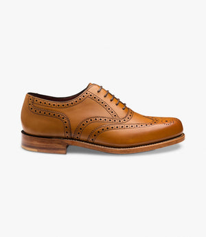 LOAKE VIV- TAN BURNISHED CALF LEATHER SHOES - Side View