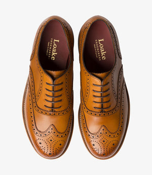 LOAKE VIV- TAN BURNISHED CALF LEATHER SHOES - Top View