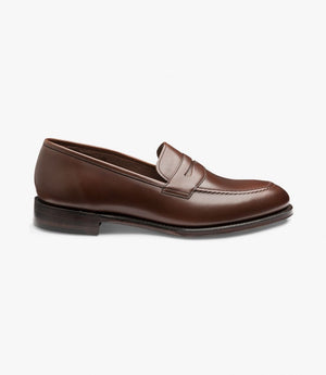 LOAKE - Whitehall Penny Loafers Shoe - Dark Brown - Side View