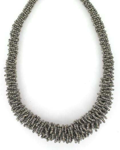 Accessories - BEADED LOOP NECKLACE PACK-2 - Charcoal