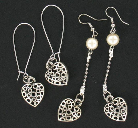 Accessories - CARVED HEART EARRINGS - MIXED PACK-2