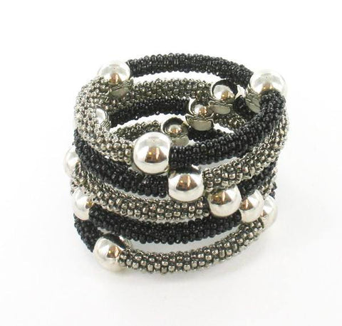 Accessories - Grey & Black Spiral Bracelet