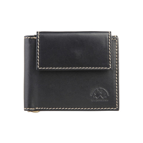 Accessories - La Martina Men's Leather Cash Clip  Wallet  - Black
