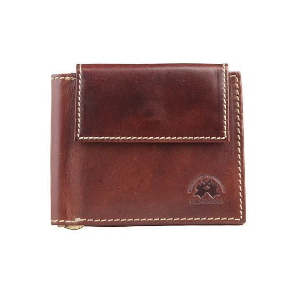 Accessories - La Martina Men's Leather Cash Clip  Wallet  - Brown