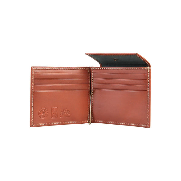 Accessories - La Martina Men's Leather Cash Clip  Wallet  - Tan