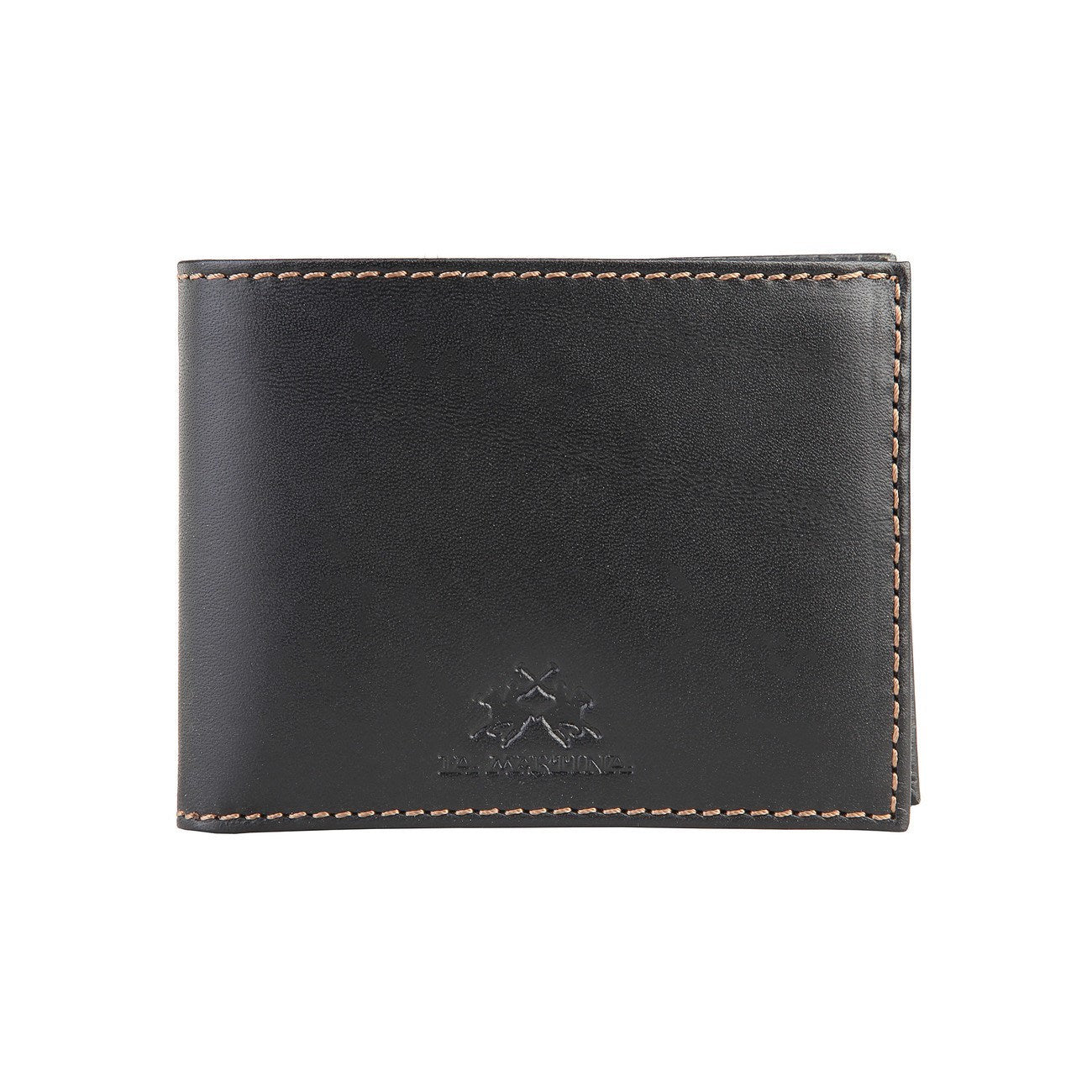 La Martina Men's Leather wallet - Black - Ninostyle