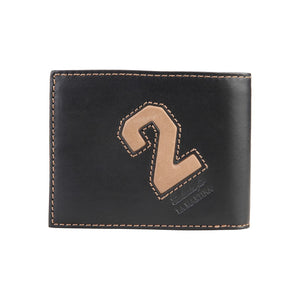 La Martina Men's Leather wallet (extra compartment) - Black - Ninostyle