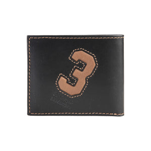 La Martina Men's Leather wallet (Slim) - Black - Ninostyle