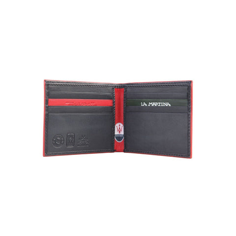 Accessories - La Martina Men's MASERATI Leather Wallet - Black(slim)
