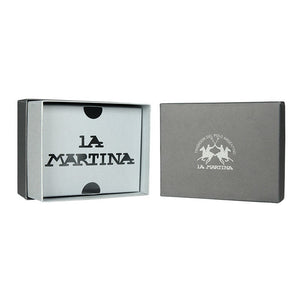 La Martina Men's MASERATI Leather wallet - Blue - Ninostyle
