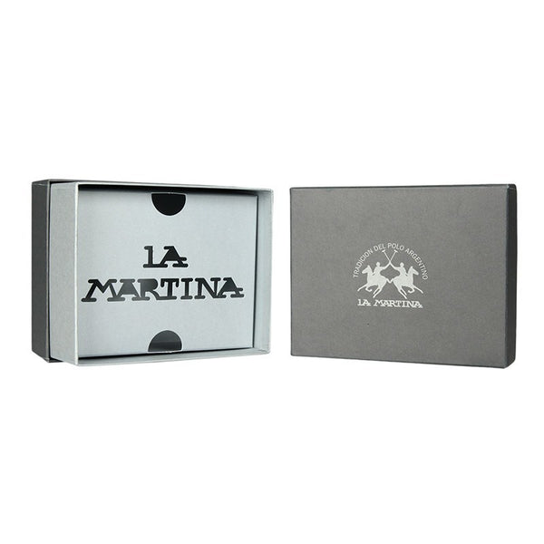 Accessories - La Martina Men's MASERATI  Leather Wallet (WITH COIN POCKET) - Black