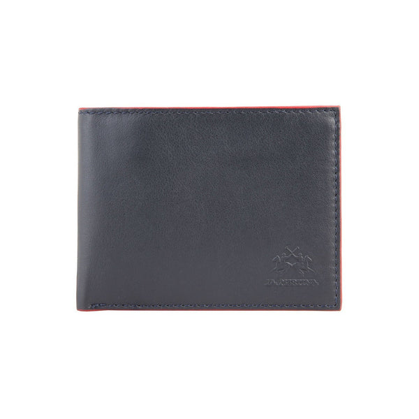 Accessories - La Martina Men's MASERATI Leather Wallet (WITH COIN POCKET) - Blue
