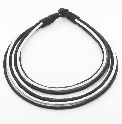 Accessories - MULTI-STRAND FABRIC NECKLACE