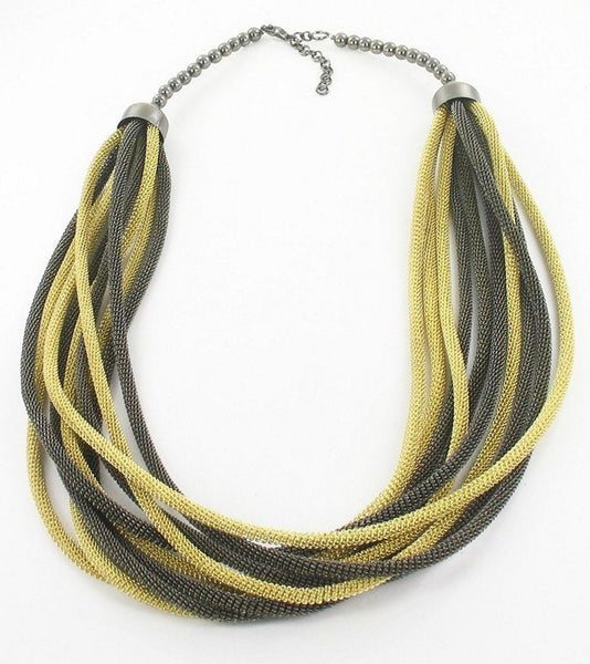 Accessories - MULTI-STRAND MESH TUBE NECKLACE