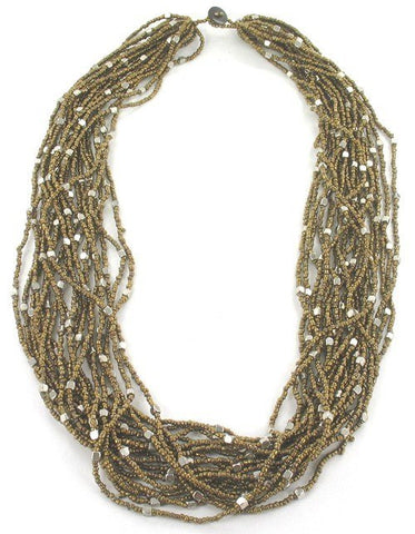 Accessories - MUTLI-STRAND BEADED NECKLACE
