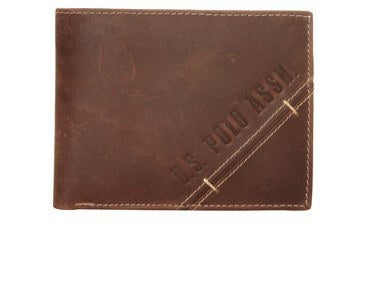 Accessories - US POLO Men's Leather Wallet - Brown