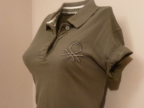 Ladies Shirt - Short Sleeve - Benetton- Green (Medium)