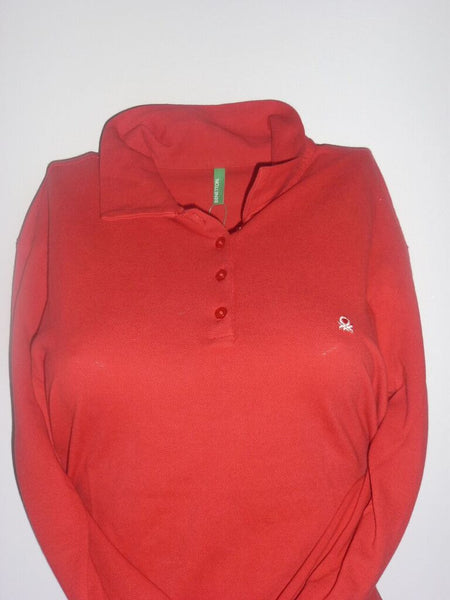 Ladies Shirt - Long Sleeve - Benetton- Red (Medium)